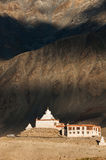 Pibiting Gompa, Padum, Zanskar valley, north India. Pibiting Gompa, with Zanskar mountain range in background Stock Photo