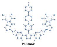 Pibrentasvir antiviral hepatitis C. Pibrentasvir is an antiviral agent approved for use with glecaprevir as the combination drug for the treatment of hepatitis C Stock Image