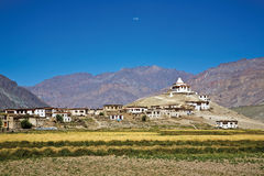 Pibtingsklooster, Zanskar-Vallei, Ladakh, Jammu en Kashmir, India Royalty-vrije Stock Foto