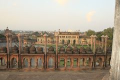 Pic av mughalsslotten från lucknow bygger i det 18th århundradet royaltyfria bilder