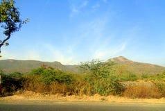 PIC bonito da paisagem da montanha de Gir de Junagadh Gujarat Fotografia de Stock
