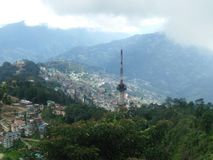 This pic is click from sikkim. City of Gangtok stock photos