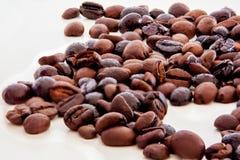 PIC da arte com os feijões de café foto de stock