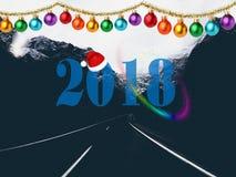 Pic 2018 di Natale HD in pieno Immagini Stock