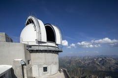 Pic du Midi berg piekwaarnemingscentrum, de Pyreneeën Frankrijk stock afbeelding