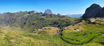 Pic du Midi d Ossau from Anayet plateau in Spanish Pyrenees, Spain. Pic du Midi d Ossau from Anayet plateau in Spanish Pyrenees, Aragon, Spain stock photography
