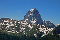 Pic Du Midi D'Ossau and Cirque d'Anneou Royalty Free Stock Photos