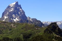 The Pic du Midi d`Ossau in the French Pyrenees. royalty free stock image