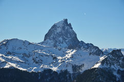 The pic du Midi d'Ossau in the French Pyrenees stock photography