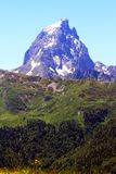 The Pic du Midi d`Ossau in the French Pyrenees. The Pic du Midi d`Ossau 2,884 m is a mountain rising above the Ossau Valley in the French Pyrenees; its Royalty Free Stock Photos