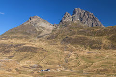 Pic du Midi d Ossau from Pourtalet Royalty Free Stock Photos