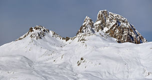 Pic du Midi d Ossau in winter stock photo
