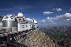 Pic du midi mountain peak observatory, pyrenees france Stock Photos