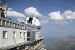 Pic du midi mountain peak observatory, pyrenessm france Royalty Free Stock Photos