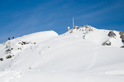 Pic du Midi in the winter Pyrenees Stock Image