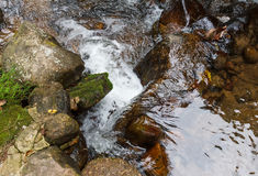 Pic of little waterfall. Royalty Free Stock Photos
