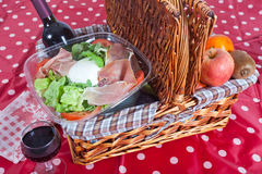 Pic-nic basket Royalty Free Stock Image