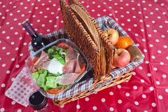 Pic-nic basket Stock Photo