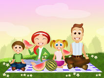 Pic nic family Stock Images