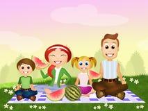 Pic nic rodzina ilustracji