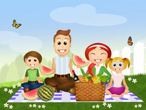 Pic nic rodzina ilustracja wektor