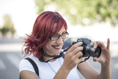 Pic review Stock Photography