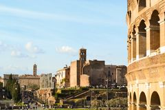 Pic of Roman Forum Stock Photography