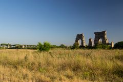 Ruins in the ancient Rome Stock Images