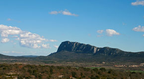 Pic st loup. Beautiful landscape, pic st loup on the south of france Royalty Free Stock Photography