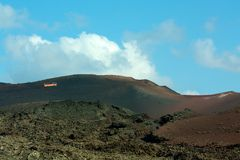 Pic of the timanfaya park Royalty Free Stock Photos