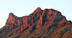 A Picacho Peak State Park Dawn Shot, Arizona. A Picacho Peak State Park Dawn Shot near Picacho, Arizona Stock Photos