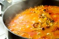 Picadillo - mexikanisches Lebensmittel Stockbilder