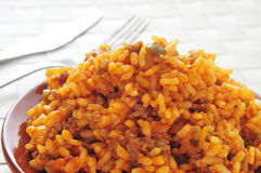 Picadillo, traditional dish in many latin american countries, wi Royalty Free Stock Photography
