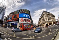 Picadilly Circus in London Stock Photo