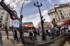 Picadilly Circus in London Royalty Free Stock Photos