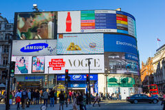 Picadilly Circus in London Stock Photos