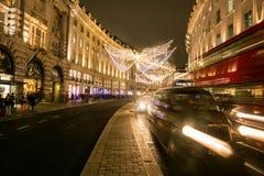 Picadilly Circus at night, London Stock Image