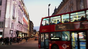Picadilly Road London at dusk typical London street view stock video footage