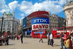 Picadilly Zirkus in London Stockbilder