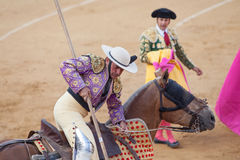 Picador avant le matador Photo stock