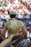 Picador bullfighter, lancer whose job it is to weaken bull's nec Stock Photography