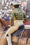 Picador bullfighter, lancer whose job it is to weaken bull's nec Stock Images