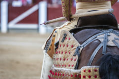 Picador bullfighter, lancer whose job it is to weaken bull`s nec Royalty Free Stock Photography