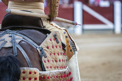 Picador bullfighter, lancer whose job it is to weaken bull's neck Royalty Free Stock Photo