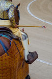 Picador holds lance. A picador holds the lance in a bullfight Royalty Free Stock Photography