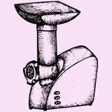 Picadora de carne elétrica Foto de Stock Royalty Free