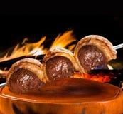 Picanha,传统巴西烤肉 免版税图库摄影
