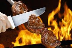 Picanha,传统巴西烤肉 免版税库存图片
