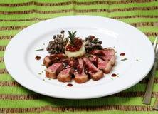 Picanha κρέατος Griled με τη σαλάτα shimeji Στοκ Εικόνα