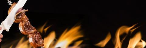 Picanha, barbecue brasiliano tradizionale immagini stock libere da diritti